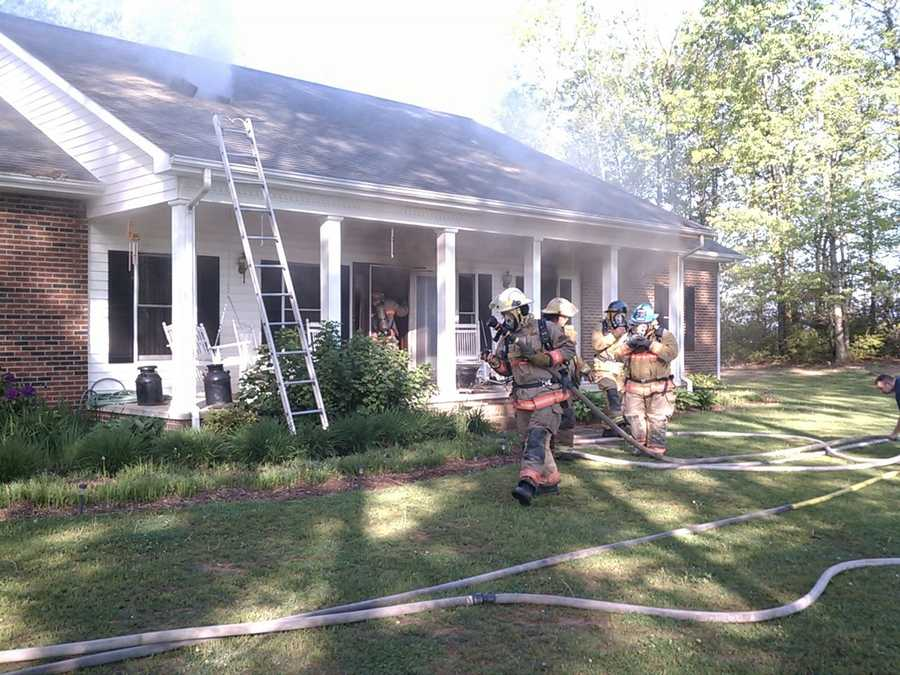 The house sustained heavy damage to the bedroom area with smoke and heat to the rest of the home. Click through for more images from WXII's William Bottomley.
