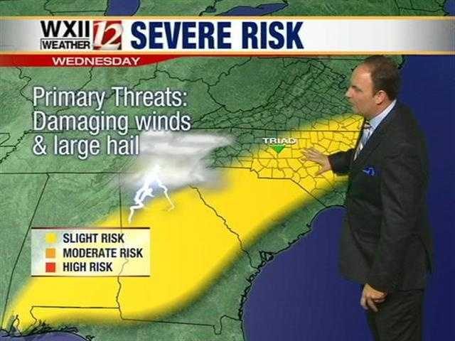 Wednesday could see severe weather in the viewing area.