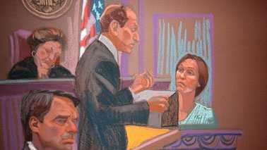Courtroom sketch from John Edwards Trial in Greensboro