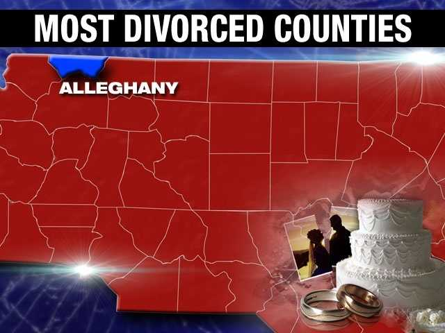 The divorce percentage in Alleghany County is 9.9%.