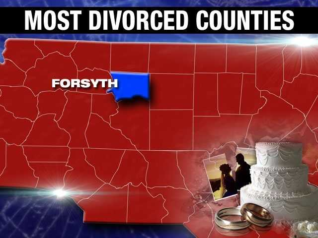 Forsyth County has nearly 30,000 divorced adult residents, for a percentage of 10.6%.