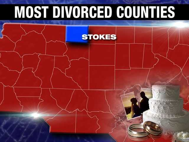 Stokes County has a divorce percentage of 10.2%.