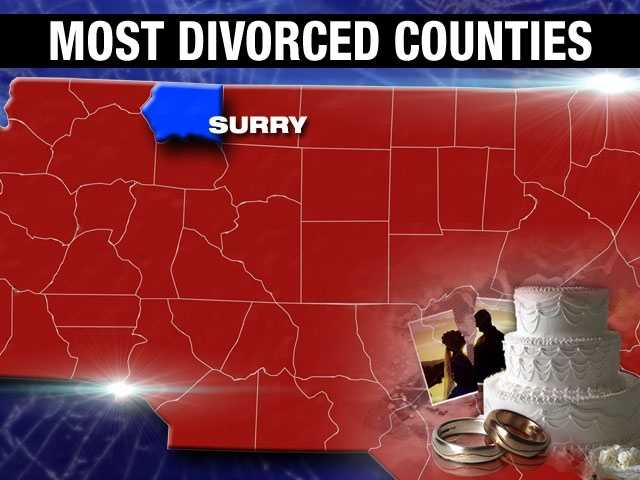 Surry County's divorce percentage is 10.3%.