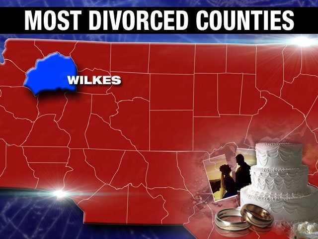 Wilkes County has a divorce percentage of 9.6%.
