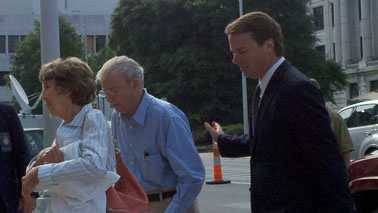 Edwards arriving at federal court with his parents (Rich Cisney/WXII)