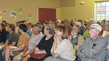 Fracking information session at Walnut Cove Library (Meaghann Evans/The Stokes News)