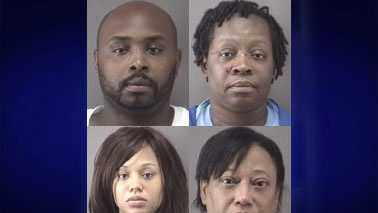 Top: Nathaniel Menefee (L) and Willie Morris (R). Bottom: Loysie Rosdhal (L) and Deborah Perry (R).