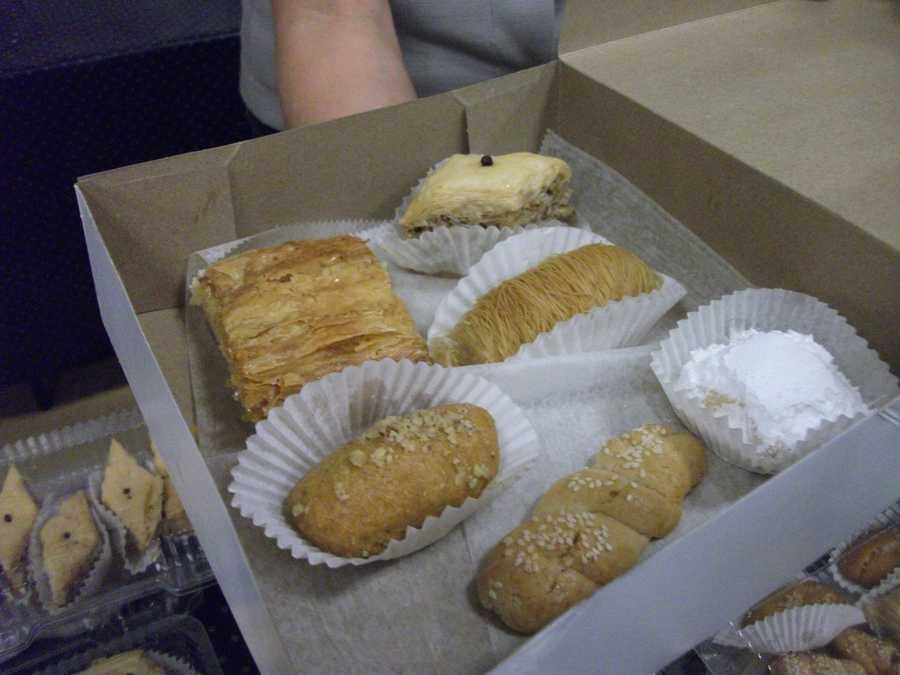 Dessert is to die for and you can get one or two items or everything in one big box.Baklava is the number one favorite but also try Galactoboureko, Melomakarona, Vasilopita and Kourabiethes.
