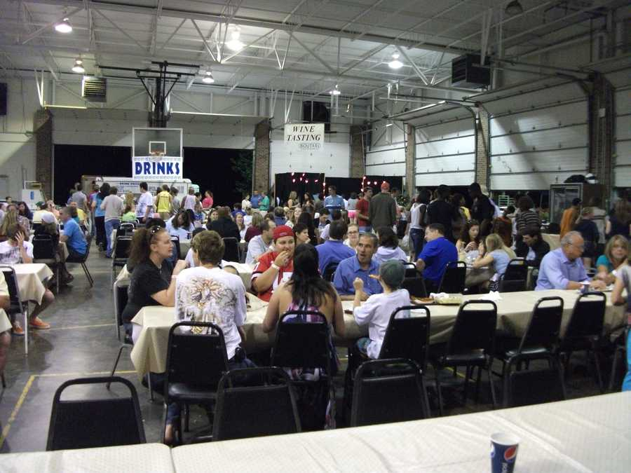 The Greek Festival has plenty of areas for you to enjoy the food, beverages, music and dancing.
