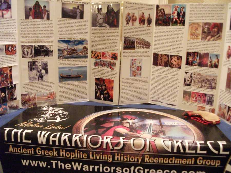 The Warriors of Greece History shown in one of the few event area.
