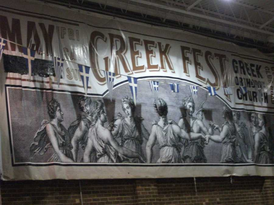 Posters and t-shirts are everywhere reminding everyone of Greeks history, life's fun and dance.