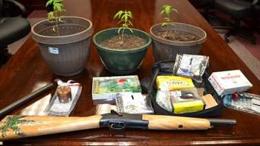 Items seized during marijuana bust (Gibsonville PD)
