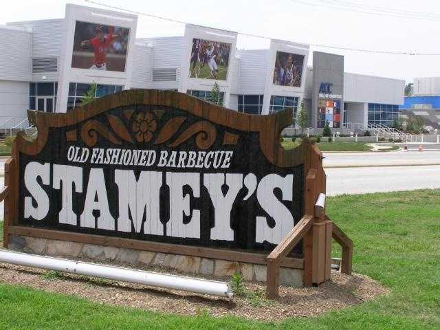 Located across from Greensboro Coliseum, Stamey's has become THE place in Greensboro to get tasty barbecue.