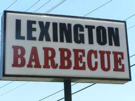 The sign says Lexington Barbecue. But locals call it Monk's or The Monk, after founder and owner Wayne Monk.