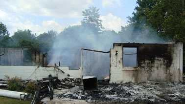 Fire destroyed the New Holy Deliverance Outreach in Axton. (Henry Co. Fire Marshal)