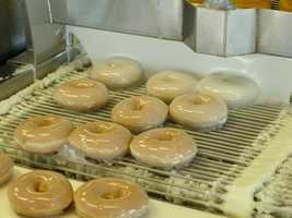 These days, Krispy Kreme doughnuts are enjoyed all over the world. But if you head to Winston-Salem, you can visit the original Krispy Kreme store where these hot doughnuts were born!
