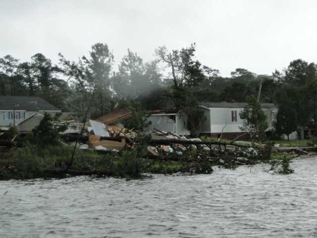 Carteret County, N.C. was on the receiving end of severe weather Wednesday caused by strong storms and Beryl, in addition to a possible tornado.