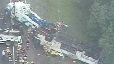 Sky Express bus crash on May 31, 2011 (Courtesy WWBT)