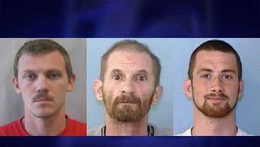 L-R: Ryan Tutterow, Mark Warden, and Nathan Warden (North Wilkesboro Police)