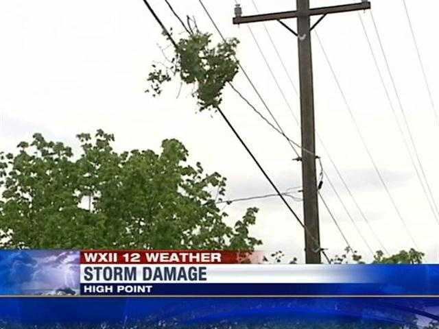High Point storm damage
