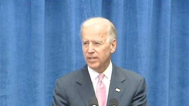 Vice President Joe Biden speaks Wednesday in Winston-Salem.