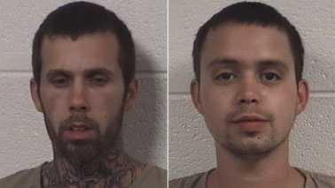 David Martin Jr., left, and Jason Jones, right (Rockingham Co. Sheriff's Office)