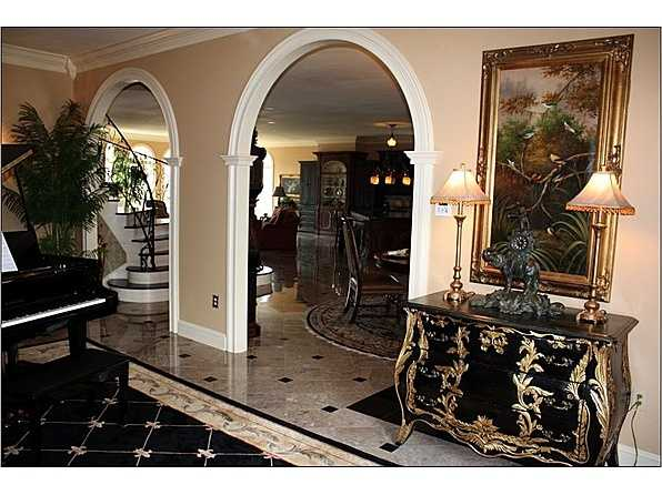 Marbled Foyer with architectural detail