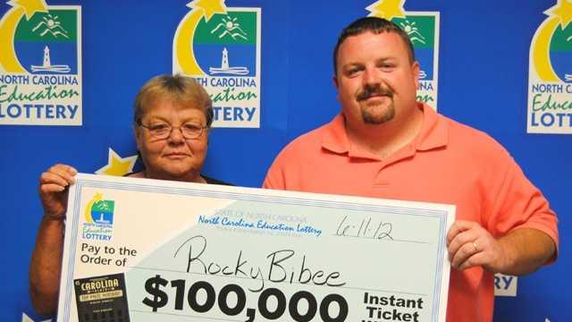 Linda Fulp, left, and Rocky Bibee, right (NC Education Lottery)