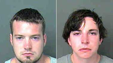 Jacob Andrew Kost, left, and Jason Edward Shaw, right (Mecklenburg County Jail)