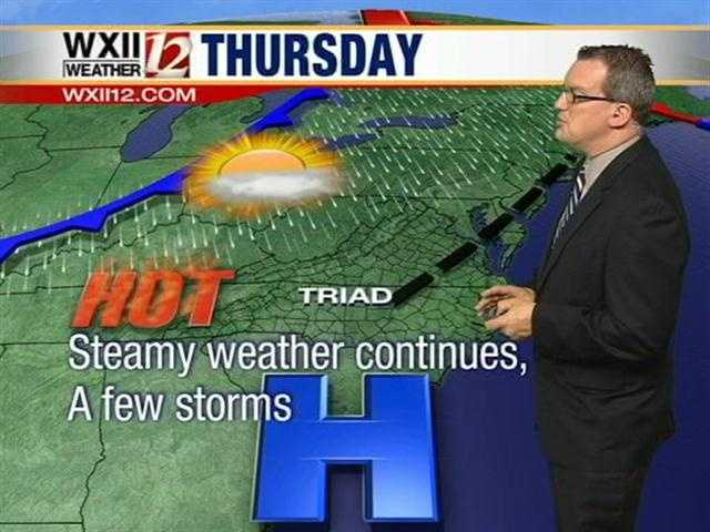 Summer is arriving with a punch that includes hot weather and storm chances.
