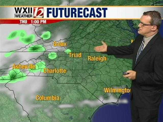 Let's check the futurecast slides at various hourly intervals.