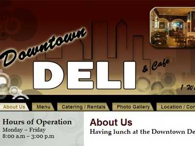 Samantha Robinson votes for the Downtown Deli & Cafe in Winston-Salem.
