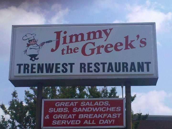 Facebook fan Tammy Flowers casts a vote for Jimmy the Greek's on Trenwest Drive in Winston-Salem.