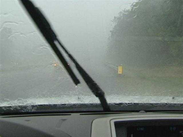 Heavy rain Friday afternoon in Davie County (thanks, WXII's Rich Cisney)