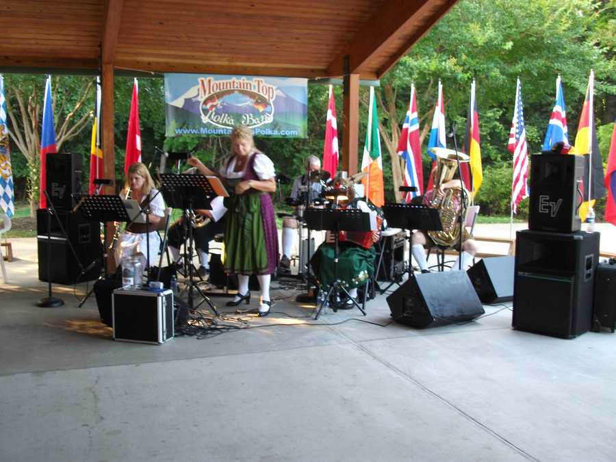 The band played many songs from Germany including famous Sound of Music songs.
