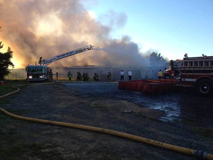 Crews from nine different fire departments helped battle a fire that started Tuesday at a furniture factory in Randolph County. Click through for more images.