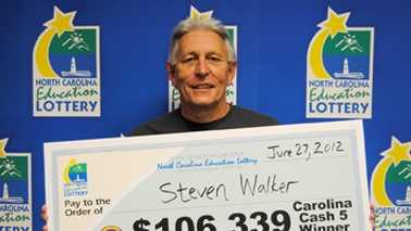 Steven Walker (photo courtesy of North Carolina Education Lottery)