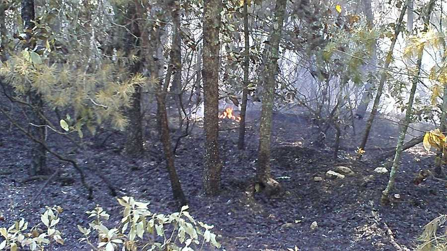 The fire in the Lowgap area has consumed 3-5 acres. (William Bottomley/WXII)