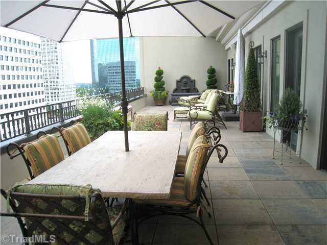 Large Patio with views of downtown