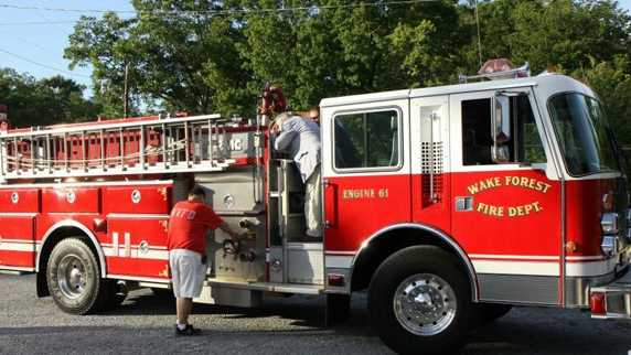 The $1 fire engine from the Wake Forest Fire Department (Woodland VFD/Facebook)