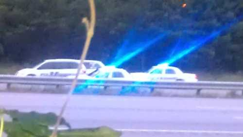 Troopers investigate a crash on Interstate 40 westbound Friday morning. (Arthur Mondale/WXII)