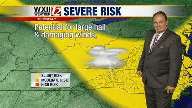 Austin says there is a chance for strong storms in much of the viewing area.