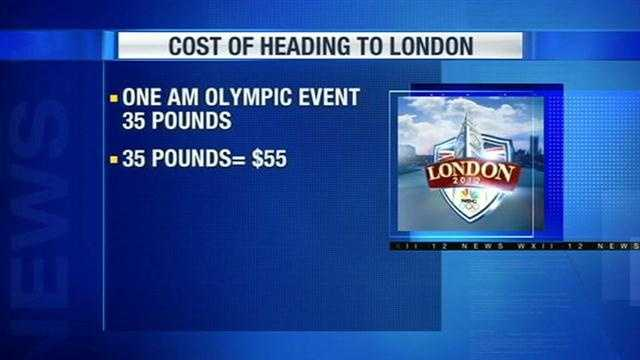 Of course, the reason you're there is cheer on your favorite Olympians! One ticket for a less popular, early morning event costs 35 British pounds – about $55 American.