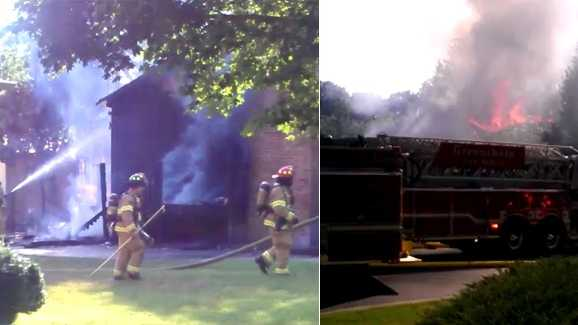 House fire off Fleming Road in Greensboro (Bill O'Neil/WXII)