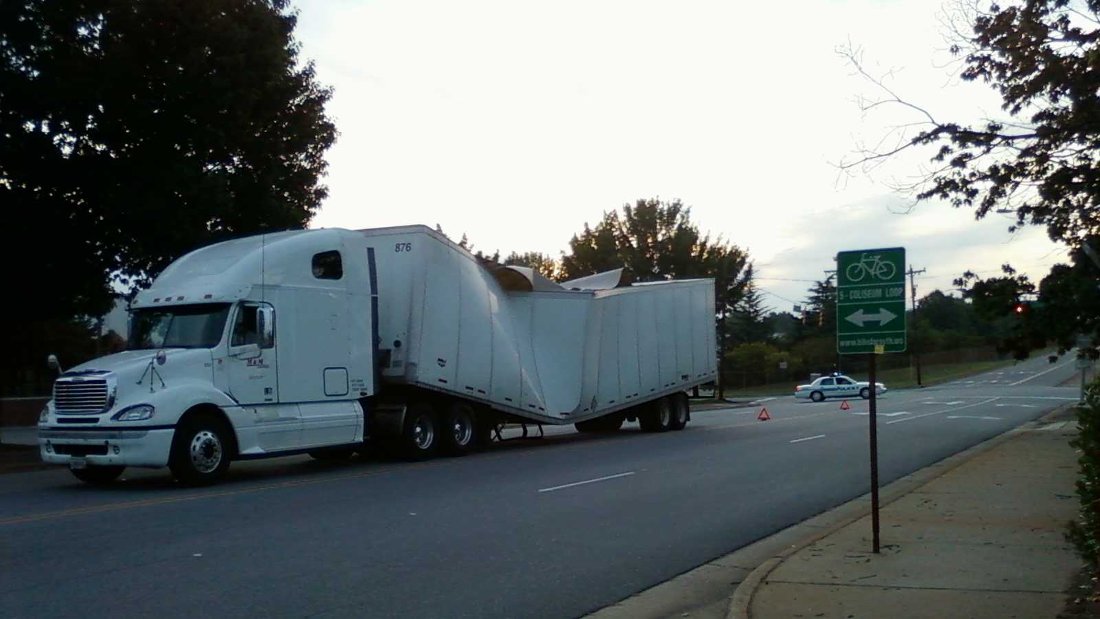 The accident occurred Friday morning. (Photo by WXII's Katie Gore)