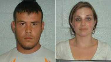 Diego Armando Arroyo-Solis, left, and Faith Smith Arroyo, right (Yadkin County Sheriff's Office)