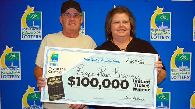 Roger and Pamela Rigney (NC Education Lottery)