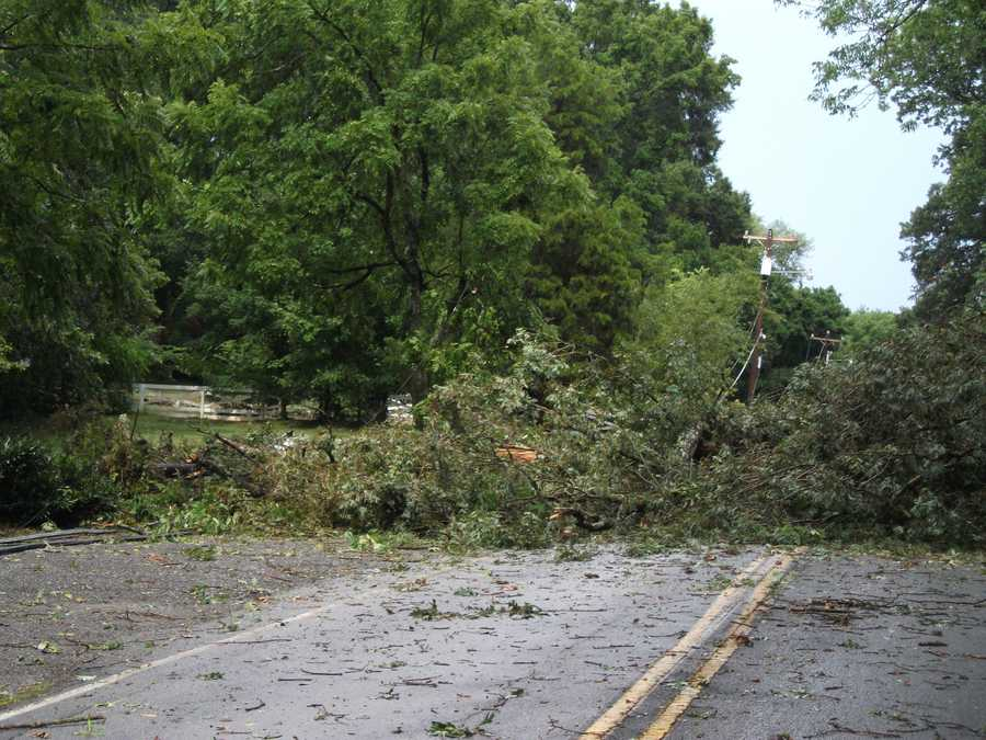 Winds pushed through Winston-Salem Friday afternoon causing a lot of damage in a short time.