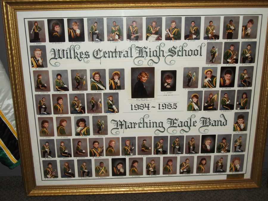 Photos framed of the band members bring memories of younger years and lessons.