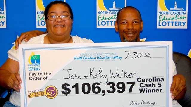 Kathy Walker, left, and John, right (NC Education Lottery)